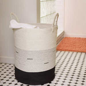 Mesa Cotton Rope Laundry Hamper Storage Toys Clothes Towels