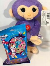 Fingerlings Baby Monkey Purple Glitter 10-Inch Plush with Sound BONUS BLIND BAG