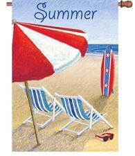 "New listing Patriotic Summer House Yard Patio Flag Banner 28"" Premier Tropical Ocean Beach"