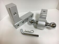 """Aluminum Tow Hitch with dual Ball 2"""" And 1 7/8"""" FOR BOAT TRAILER LIGHT RV"""