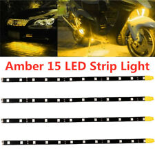 """4x 12"""" Amber Yellow Car Motorcycle Flexible LED Strip Light 2835 SMD Waterproof"""