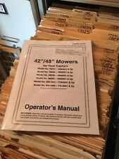 """FORD & New Holland LAWN GARDEN TRACTOR 42"""" 48"""" MOWER DECK OPERATORS MANUAL"""