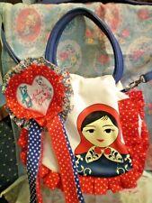 IRREGULAR CHOICE RUSSIAN DOLL HANDBAG MISS BABUSHKA GRAB BAG CREAM NEW WITH TAGS