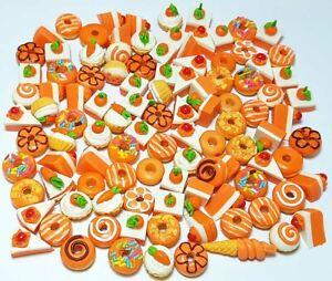 100 Dollhouse Miniature Mixed Sweet Bakery Food*Doll Mini Cupcake Donut Cake b14