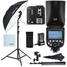 Godox V1 Flash Lighting Kit with Stand Umbrella and X2T Canon Transmitter