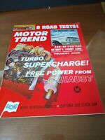 Vintage MOTOR TREND Magazine May 1962 Mercury Comet Monterey Meteor Turbo Charge