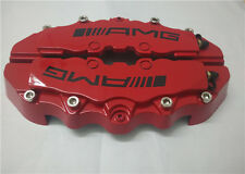 """Engineering Plastic Red AMG Brake Caliper Covers 9"""" for Rear for Universal Car"""