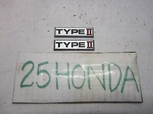 1994-1995 Acura Legend Factory Type 2 Emblems Pair OEM JDM Rare KA7 KA8 6 Speed