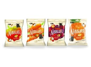 VetIQ Nibblots Small Animal Treats Berry Apple Carrot Tropical - Rabbits Guinea