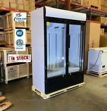New Two Glass Door Merchandiser Display Commercial Refrigerator Cooler Nsf Etl