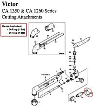 Victor CA1350 & CA1260 Cutting Torch O-ring Rebuild/Repair Kit