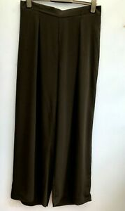 NEW Dorothy Perkins Curve Black Soft Fall Wide Leg Trousers Size 18 - 24