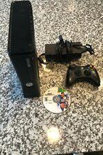 Microsoft Xbox 360 S Black Console - Xbox 360 Slim - W/ NCAA 2011 (Tested)