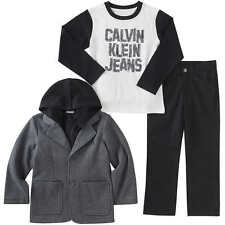 Calvin Klein Boys' 3-piece Set, Black and Gray, Size 4T