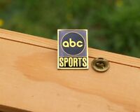 abc Sports Gold Tone Metal & Enamel Lapel Pin Pinback