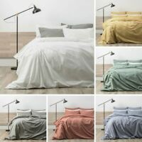 RENEE TAYLOR Lorimer 300TC Cotton Stonewash Quilt Cover Set 6 Colours NEW