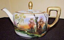 Beautiful Antique Hand Nippon Porcelain Tea Pot