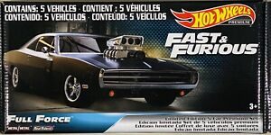 Hot Wheels Fast & Furious Full Force Set Of 5 Mazda RX7,  Charger, Acura, Jaguar