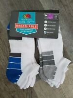Fruit Of The Loom Mens Socks Low Cut Micro Mesh Cotton Size 6-12 Qty 5