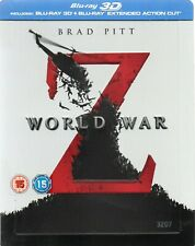 World War Z steelbook (UK 3D blu-ray & extended blu-ray)
