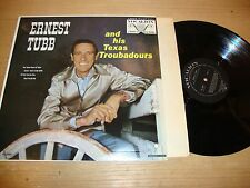 Ernest Tubb And HIs Texas Troubadours - LP Record  VG EX