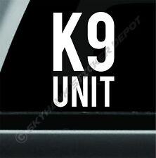 K9 Unit Police Dog Bumper Sticker Vinyl Decal Diesel Car Decal Law Enforcement