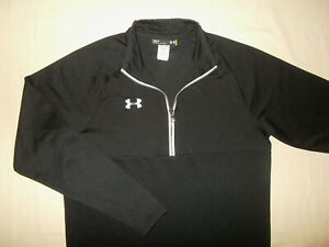 UNDER ARMOUR 1/2 ZIP LONG SLEEVE BLACK SHIRT MENS SMALL EXCELLENT CONDITION