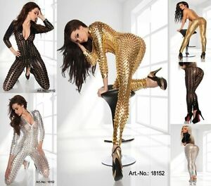Plus 3XL Size Women's Hollow Out PU Leather Catsuits Fancy Party Dress Costumes