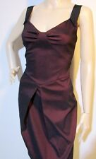 CUE size 6 hourglass stretch red claret DRESS excellent condition FREE post