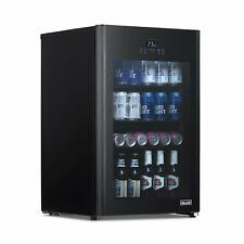 NewAir Beer Froster 125 Can Freestanding Beverage Fridge in Black