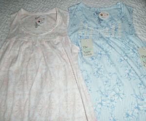 Croft and Barrow Cotton Blend Nightgown Long Sleeveless 4X 3X 2X 1X XL L M S NWT