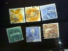 Collection of Old US Stamps 1869 Pictorials 112 -117 used