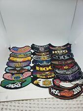 1984 - 2006 Harley Davidson Owners Group member rocker patches HOG Gift set Lot