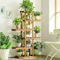 6 Tier Wood Plant Stands Display 12 Pot Flower Planter Shelf Home Garden Outdoor