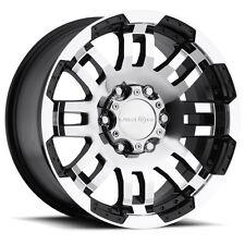 "17"" Vision Warrior Black Machined Wheels Rims 6x135 Ford F-150 6 Lug"