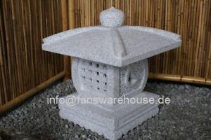 Tenka Chaya Japanische Steinlaterne Granitlaterne 40 cm Koi Garten Deko Laterne