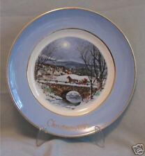 Avon Christmas Plate 1979 Dashing Through The Snow