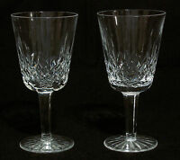 "Waterford Crystal LISMORE 7"" Stems Water Goblets/Glasses - Set of 2"