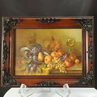 Schmetterling Fine Art Print Still Life Fruit  Ornate Antique-Style Frame 9x7