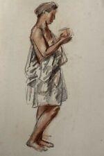 NOEL FEUERSTEIN (1904-1998) BELLE SCENE ALLEGORIQUE SANGUINE VERS 1940 (24)