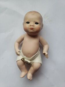 """1973 Vintage Resproduction All Bisque 3 /4"""" Bye-lo Baby Doll Laurine Brock"""