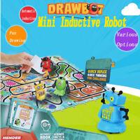 Scribing Induction Robot Toys w/ Light Drawing Line Pen Robot Kids Gift Boy Gift