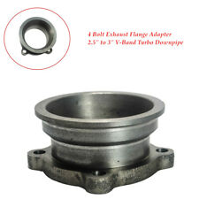 """2.5"""" to 3"""" Car V-Band Turbo Downpipe 4 Bolt Exhaust Flange Adapter TIG Welded"""
