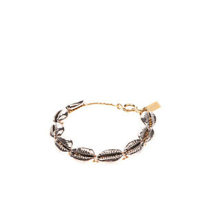 RRP €275 ISABEL MARANT Amer Cuff Bracelet Cowrie Shell Shape Details Spring Ring