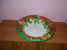 Christmas Serving Bowl, Plastic Large Beautiful