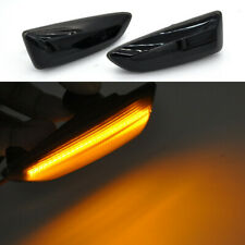 2x smoked lens amber LED Side Marker turn signal Light For Opel Astra J 2010 up