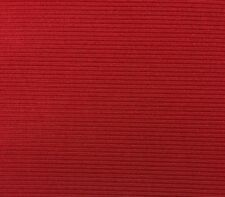 UNIKA VAEV COUP FOURRE RED LIGHT EPINGLE STRIPE VELVET UPHOLSTERY FABRIC BY YARD