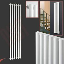 "420mm(w) x 1800mm(h) ""Brecon"" White Designer Vertical Radiator 3912BTU Oval Tube"