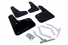 Rally Armor UR BLACK Mud Flaps w/ Blue Logo Ford Focus ST & RS MF27-UR-BLK/BL