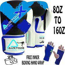 BLUE Boxing Sparring Gloves MMA Punch Bag Mitt UFC Fight Training 8oz-16oz